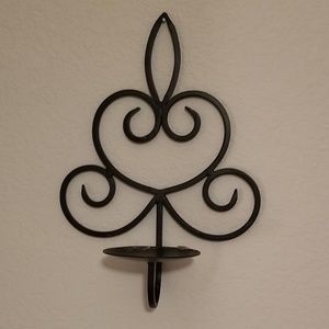 Metal candle holder wall sconce